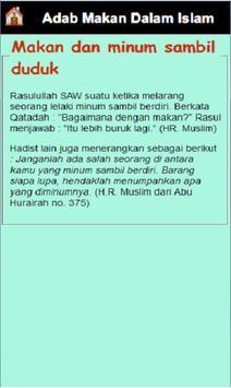 Adab Makan Dalam Islam apk screenshot