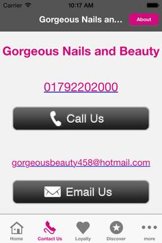 Gorgeous Nails and Beauty apk screenshot