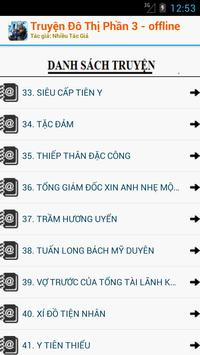 Truyện Đô Thị Phần 3 OFFLINE apk screenshot