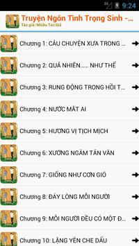 Truyện Ngôn Tình Trọng Sinh apk screenshot