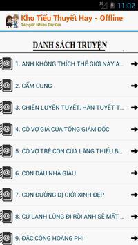 Kho Tiểu Thuyết đặc sắc - OFF apk screenshot