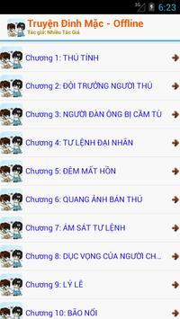 Truyện Full Đinh Mặc OFF 2016 apk screenshot