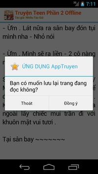 Truyện Teen Phần 2 Offline apk screenshot