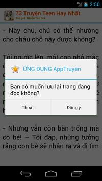 73 Truyện Teen Hay Nhất apk screenshot