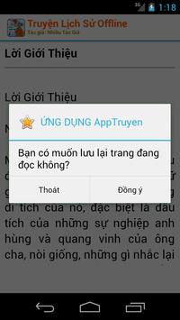 Truyện Lịch Sử - Offline apk screenshot