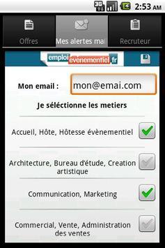 Emploi Événementiel apk screenshot