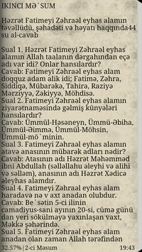 14 Məsum Haqqında Sual Cavab apk screenshot