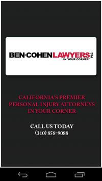 Ben Cohen Lawyers Accident App poster