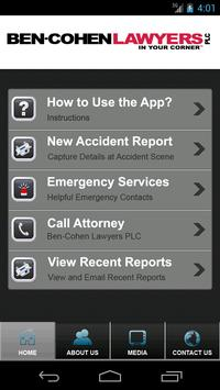 Ben Cohen Lawyers Accident App apk screenshot