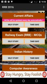 RRB 2016 - Railway Exam Master apk screenshot