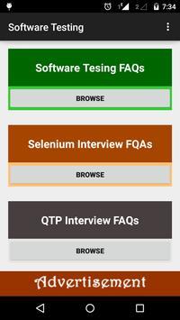 Software Testing Interview FAQ poster