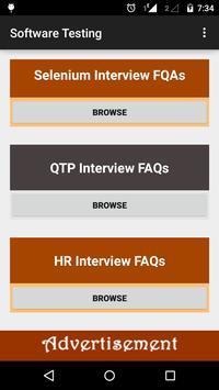 Software Testing Interview FAQ apk screenshot