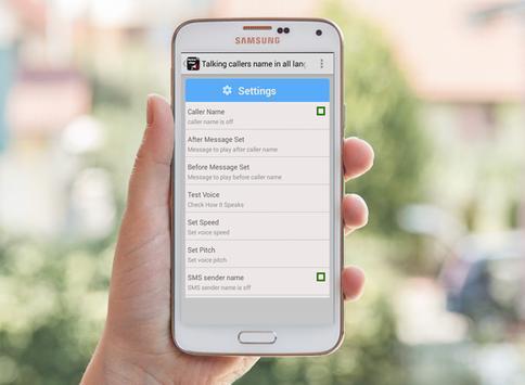 Talking Callers Name apk screenshot