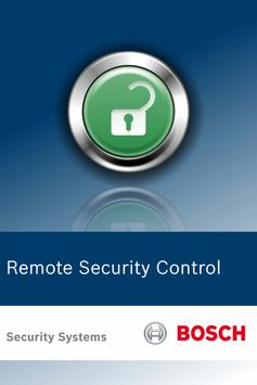 Bosch Remote Security Control poster