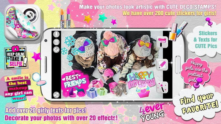 Menina bonito foto etiquetas apk baixar gr tis - Decorador de fotos gratis ...