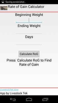 Rate of Gain Calculator poster