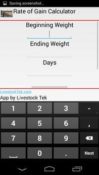 Rate of Gain Calculator apk screenshot