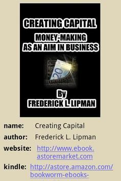 Creating Capital poster