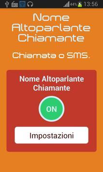 Nome Altoparlanti Chiamante poster
