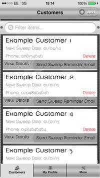 Chimney Sweep Reminders CRM apk screenshot