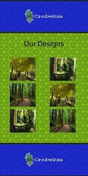 Wooden Garden Canopy Design poster