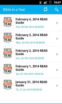 Daily Reading- Bible in a year poster