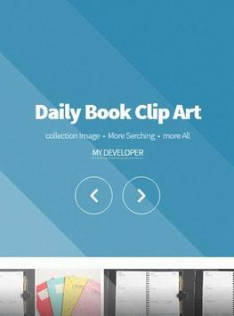 Daily Book Clip Art poster