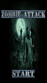 Zombie on the screen poster