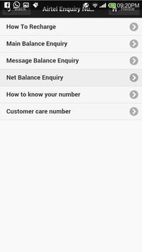 Sim Enquiry Numbers apk screenshot