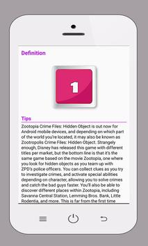 Guides Zootopia Crime Files apk screenshot