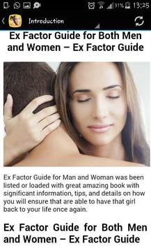 Ex Back Factor Guide apk screenshot