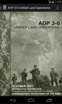 ADP 3-0 Unified Land Ops poster