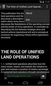 ADP 3-0 Unified Land Ops apk screenshot