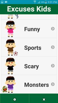 Excuses Kids apk screenshot