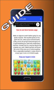 Tips Farm Heroes Saga apk screenshot