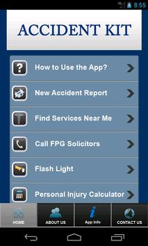 Accident Kit by FPG Solicitors apk screenshot
