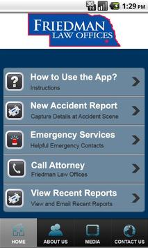 Accident App by Friedman Law apk screenshot