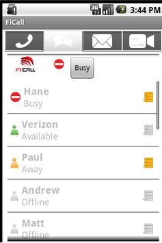 FiCall apk screenshot