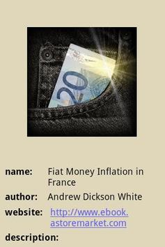 Fiat Money Inflation in France poster