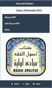 Mabadi Al Awaliyah & Terjemah poster