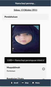 Nama Bayi Perempuan Islam poster