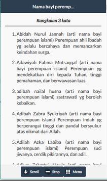 Nama Bayi Perempuan Islam apk screenshot