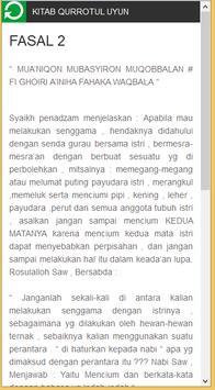 Terjemah Kitab Qurrotul Uyun poster