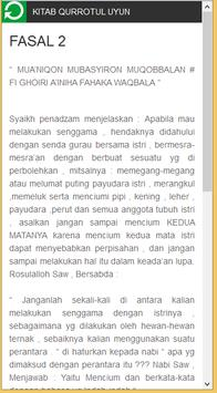 Terjemah Kitab Qurrotul Uyun apk screenshot