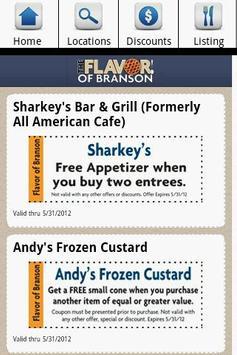 Branson Restaurants apk screenshot
