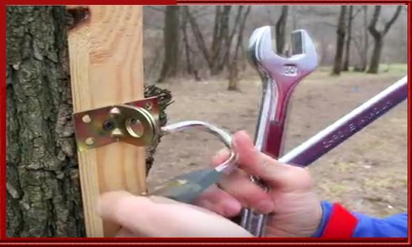 Guide open a lock with wrench apk screenshot