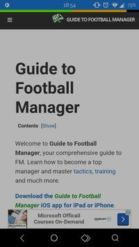 Guide to Football Manager poster