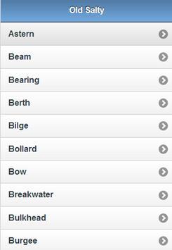 Old Salty Nautical Terms apk screenshot