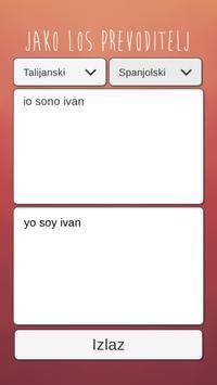 Jako Los Prevoditelj apk screenshot