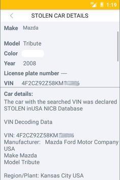 Stolen Car Checker apk screenshot